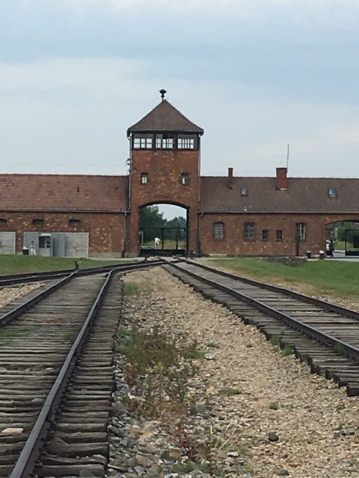 I've always seen photos of Auschwitz but when I got to the camp and the barracks, I was lost for words..